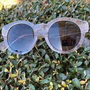 BeBe clear glitter Sunglasses